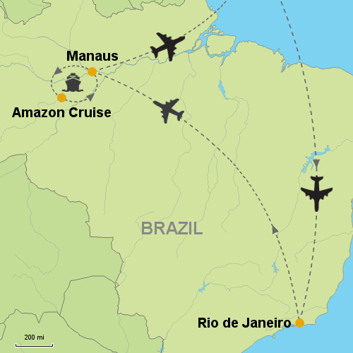 Rio de Janeiro Amazon Cruise Clipper Premium Customizable