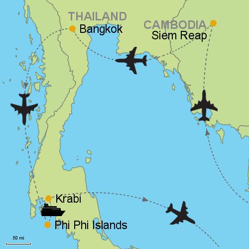 Siem Reap - Bangkok - Phi Phi Islands - Krabi Customizable Itinerary ...