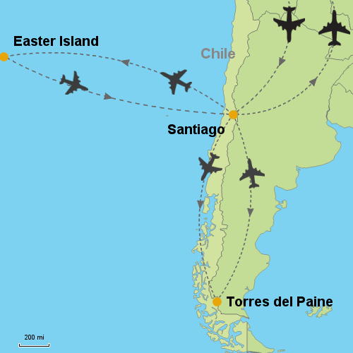 Easter Island Torres Del Paine Customizable Itinerary - Easter island map