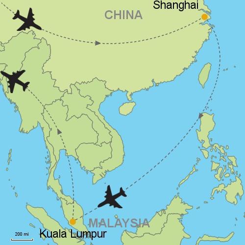 Shanghai - Kuala Lumpur Customizable Itinerary from Asia.Tripmasters.com