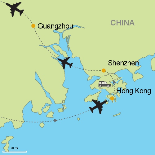 Hong kong shenzhen guangzhou customizable itinerary from asia map hong kong shenzhen guangzhou gumiabroncs