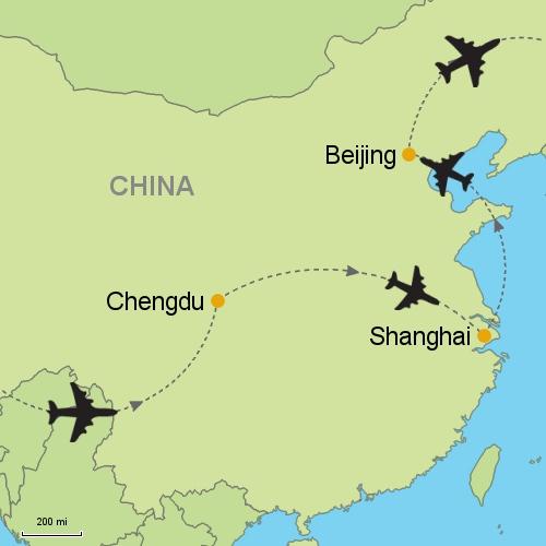 Chengdu Shanghai Beijing Customizable Itinerary from Asia