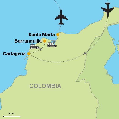 Cartagena Barranquilla Santa Marta Customizable Itinerary