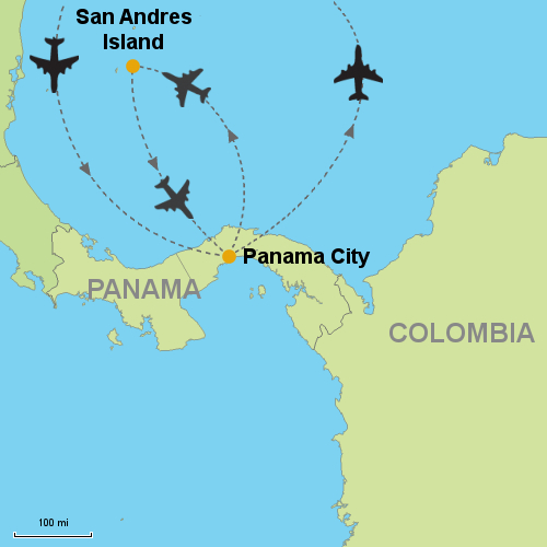 San Andres Colombia Map Panama City and San Andres Island  Customizable Itinerary