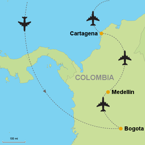 Bogota - Medellin - Cartagena- Customizable Itinerary