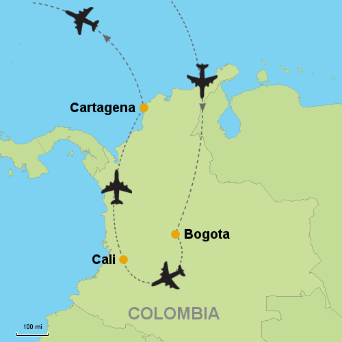 Bogota - Cali - Cartagena- Customizable Itinerary on
