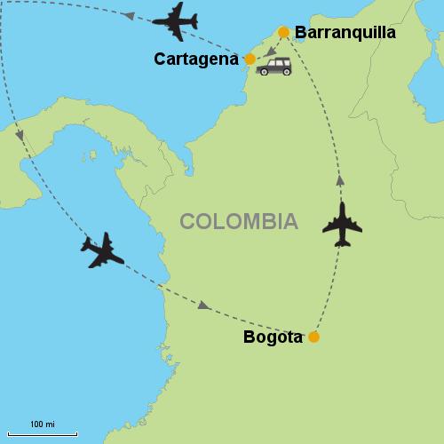 Bogota - Barranquilla - Cartagena- Customizable Itinerary