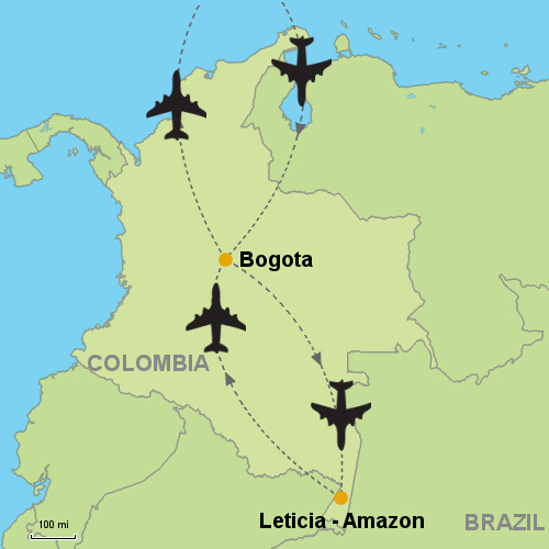 Bogota and Leticia Amazon Customizable Itinerary from Tripmasters ...