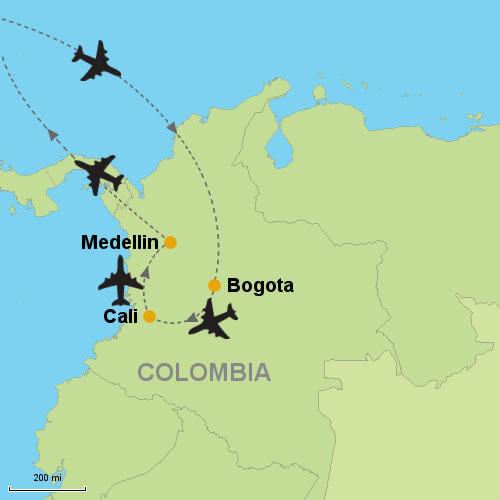 Bogota - Cali - Medellin- Customizable Itinerary