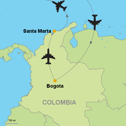 Bogota - Santa Marta on cabo de la vela map, port-au-prince map, armenia map, vancouver british columbia map, la paz map, cartagena map, maputo map, hanoi map, uyuni salt flats map, salento colombia map, caracas map, moscow map, pereira map, guatape map, florencia map, oslo map,
