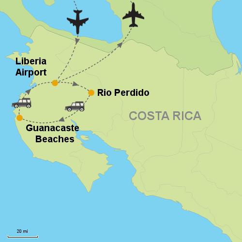 Rio Perdido and Guanacaste Beaches- Customizable Itinerary