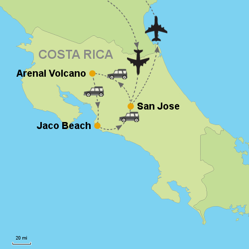 Arenal Volcano Jaco Beach Images Packages1 Costarica Map 20098 Itinerary 500 Jpg