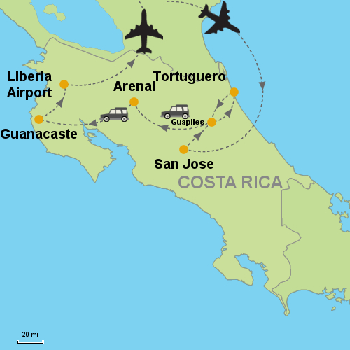 Tortuguero - Arenal Volcano - Guanacaste Beaches- Customizable Itinerary