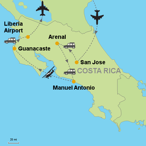 Arenal Volcano - Manuel Antonio - Guanacaste Beaches- Customizable ...