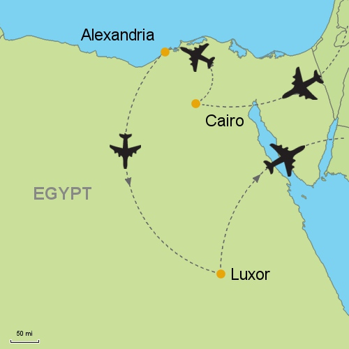 Cairo - Alexandria - Luxor