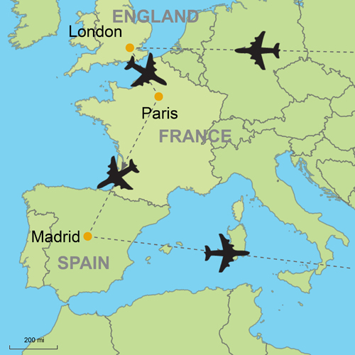 England And London Map.Vacation Package London Paris Madrid By Air Custom Vacation