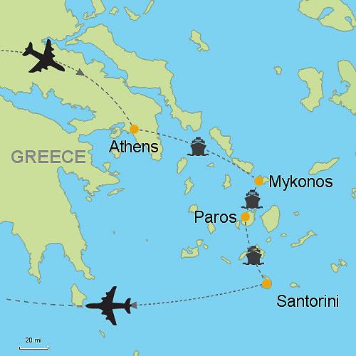 Athens Mykonos Paros Santorini By Ferry