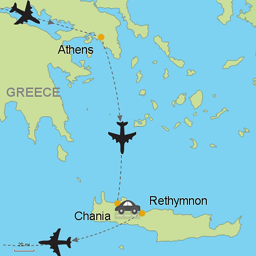 Athens Chania and Rethymnon Crete Island Customizable Itinerary