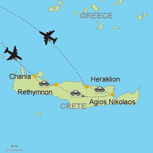 Chania Rethymnon Agios Nikolaos and Heraklion Customizable