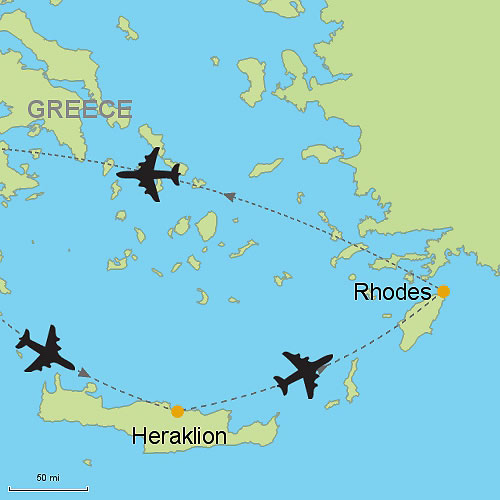 Heraklion Crete and Rhodes by Air Customizable Itinerary from