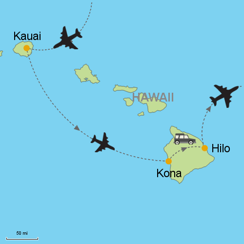 Kauai - Hawaii Big Island Beach and Volcano on map of glasgow, map of johannesburg, map of cedar rapids, map of miami, map of madrid, map of lansing, map of norfolk, map of new york, map of salt lake city, map of kona, map of lanai city, map of porto, map of florence, map of kahului, map of ontario, map of hilo, map of honolulu, map of singapore, map of hawaiian islands, map of cancun,