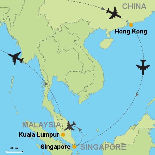 Hong Kong - Singapore - Kuala Lumpur Customizable Itinerary from ...