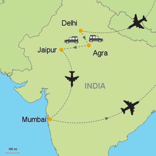 Delhi Agra Jaipur Mumbai Customizable Itinerary from Asia