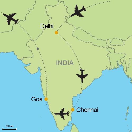 Delhi Chennai Goa Customizable Itinerary from AsiaTripmasterscom