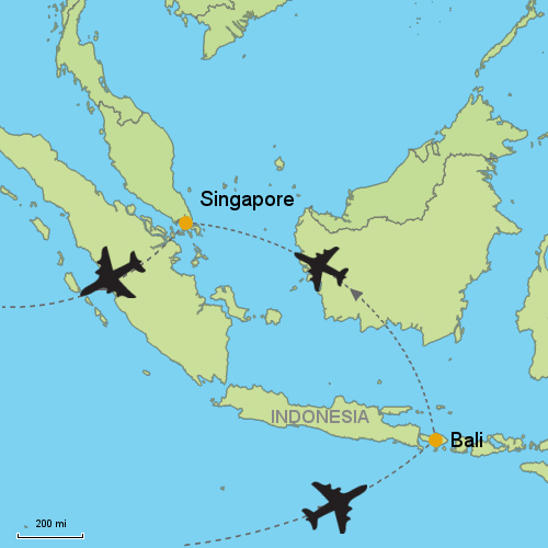 Bali singapore customizable itinerary from asiaipmasters map bali singapore gumiabroncs Image collections