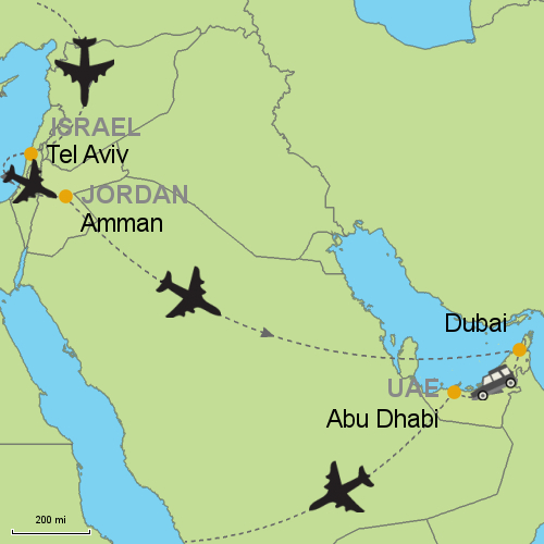 Tel Aviv - Amman - Dubai - Abu Dhabi Customizable Itinerary from ...