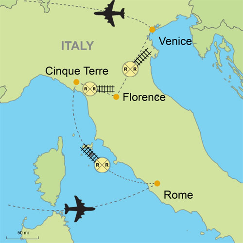 Map Of Italy Venice.Rome Cinque Terre Florence Venice