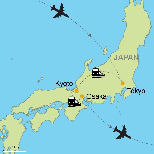 Tokyo - Kyoto - Osaka by Rail on koyasan japan map, osaka japan map, edo japan map, kamakura japan map, toba japan map, capital of japan, hiroshima map, himeji castle, atsugi japan map, sea of japan map, sapporo japan map, yakushima japan map, nagasaki japan map, mount fuji, nara japan map, yamato japan map, osaka castle, kobe japan map, okinawa japan map, bali indonesia map, maizuru japan map, yokohama japan map, agra map, mt. fuji japan map,