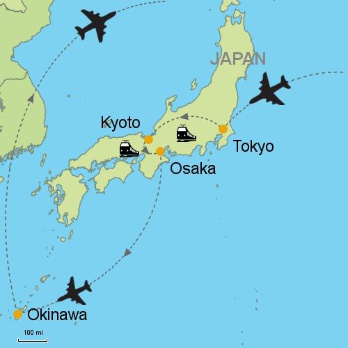Tokyo Kyoto Osaka Okinawa Customizable Itinerary From Asia