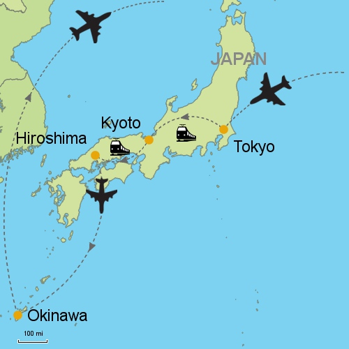 Hiroshima Map Of Japan.Tokyo Kyoto Hiroshima Okinawa Customizable Itinerary From Asia