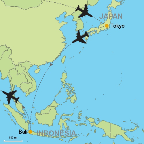 Tokyo bali denpasar customizable itinerary from asiaipmasters imagespackages1japan41167itinerarymaps500g gumiabroncs Images