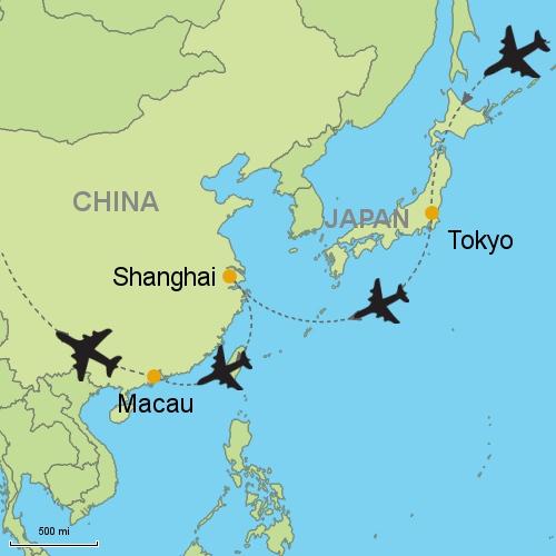 Tokyo Shanghai Macau Customizable Itinerary from Asia