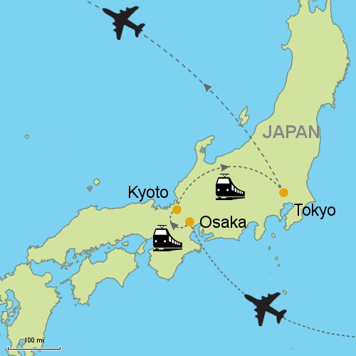 Osaka - Kyoto - Tokyo by Rail Customizable Itinerary from Asia ...