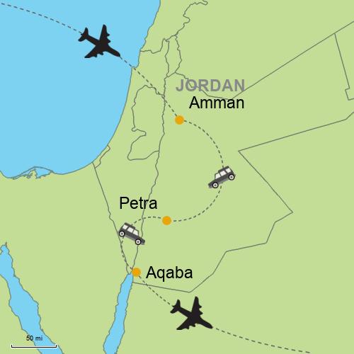 Map Of Asia Jordan.Amman Petra Aqaba