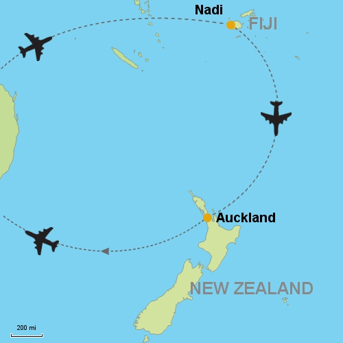 Fiji nadi auckland customizable itinerary from asiaipmasters map fiji nadi auckland gumiabroncs Gallery