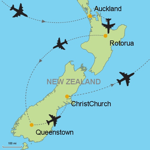 Where Is Rotorua On The New Zealand Map.Auckland Rotorua Queenstown Christchurch