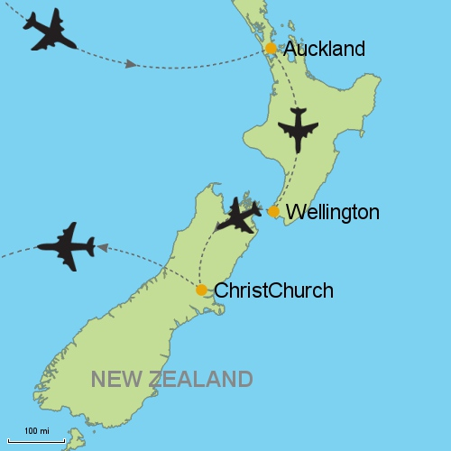 Auckland Wellington Christchurch Customizable Itinerary from