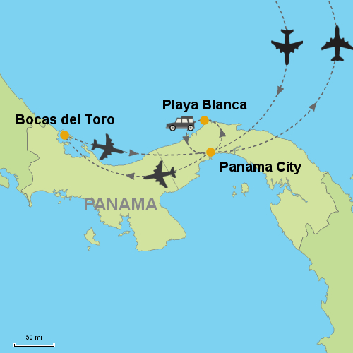 Map Of Hotels In Panama City Panama