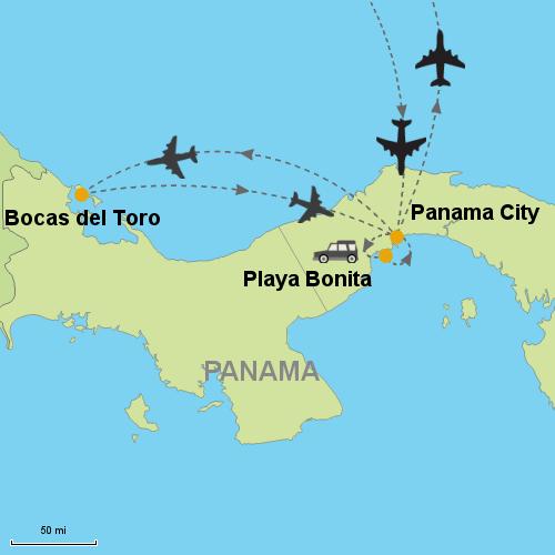 Panama City Bocas Del Toro Playa Bonita Customizable Itinerary