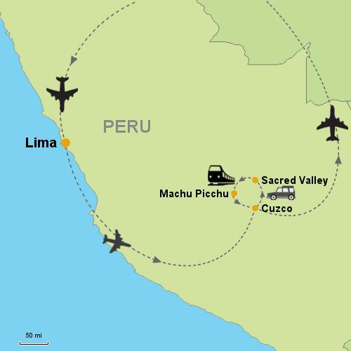 Basic Peru 5 nights Customizable Itinerary from Tripmasters.com\\Latin