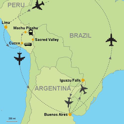 Machu Picchu Iguazu Falls Buenos Aires Customizable Itinerary - How far is machu picchu from lima