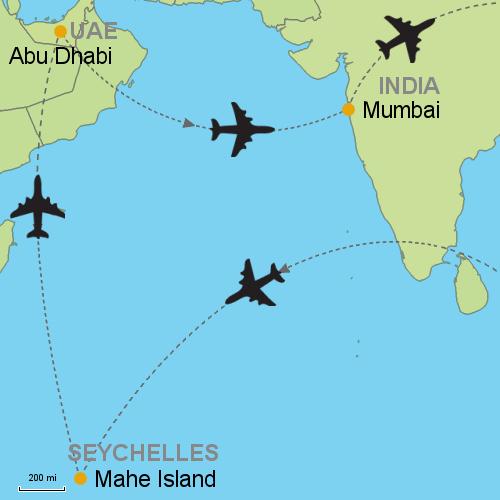 Seychelles Abu Dhabi Mumbai Customizable Itinerary From Asia - Where is seychelles in the world