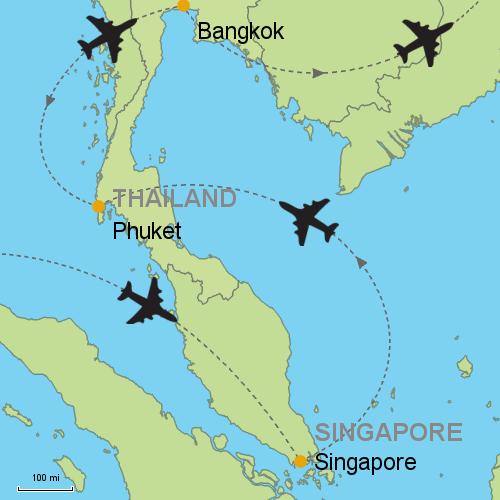 Singapore Phuket Bangkok Customizable Itinerary From Asia