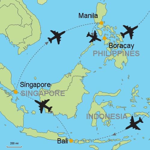 Manila Philippines World Map.Bali Singapore Manila Boracay Customizable Itinerary From Asia