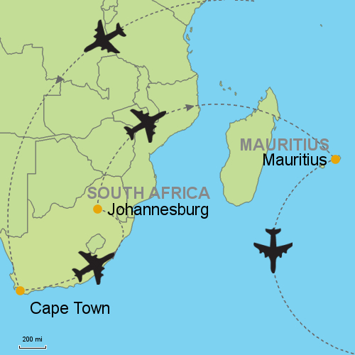 Cape Town Johannesburg Mauritius Customizable Itinerary From