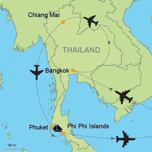 Bangkok Chiang Mai Phuket Phi Phi Islands Customizable